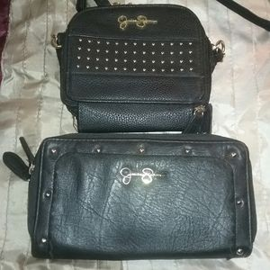 Slightly used Jessica Simpson wallet and crossbody